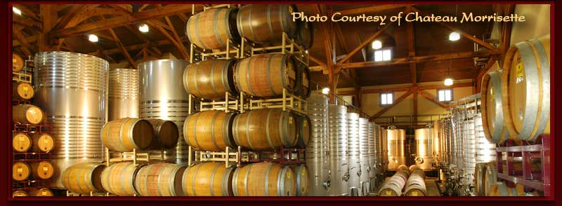 Barrels at Chateau Morrisette